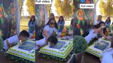 Photo of #Video Niño Manotea A Su Tía Por Aventarlo A Pastel En Fiesta De Cumpleaños