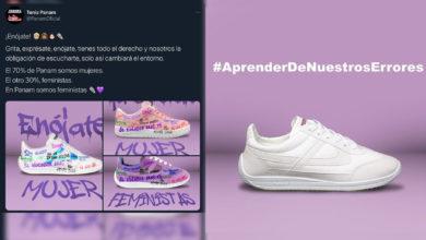 Photo of #AprenderDeNuestrosErrores Panam Se Disculpa Por Tenis Con Consignas Feministas