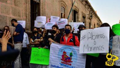 Photo of #Morelia ¡Abrimos o Morimos! Trabajadores De Eventos Piden Piso Parejo