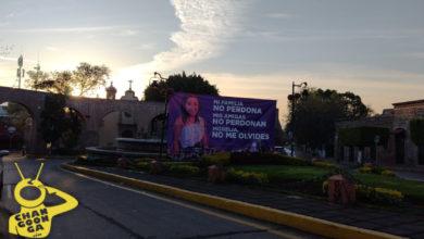Photo of #Morelia Amanece Lona En Memoria De Jessica, Víctima De Feminicidio En Las Tarascas