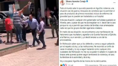 Photo of #Aguililla Decidí Encarar A Un Halconero Por Insultar A La Autoridad: Gober Silvano