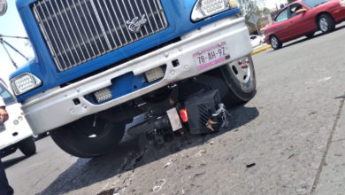 Photo of En Morelia: Chava Motociclista Se Salva De Milagro Tras Ser Impactada Por Camión