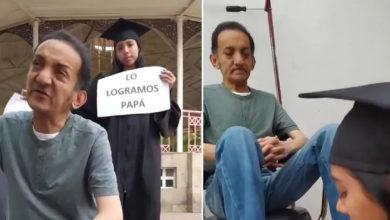 Photo of Chava Se Gradúa De Universidad Y Agradece A Su Papá Bolero Por Todo Su Esfuerzo
