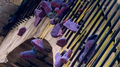 Photo of #Morelia Con Zapatos Morados Colgados De Un Puente Denuncian Feminicidios