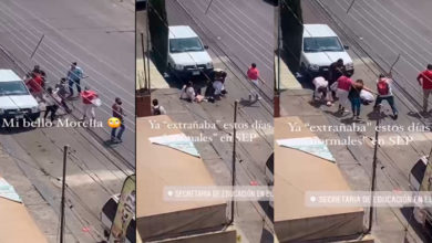 Photo of #Morelia Graban BRUTAL Paliza De Profes A Maestro En Via Pública