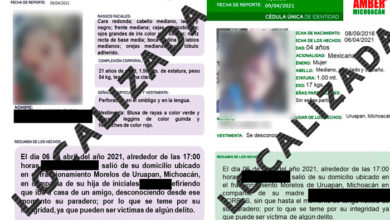 Photo of Encuentran Sanas Y Salvas A Madre E Hija Desaparecidas En Uruapan
