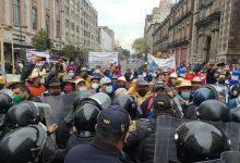 En #CDMX Impiden A Comuneros Michoacanos Manifestarse En El Zócalo