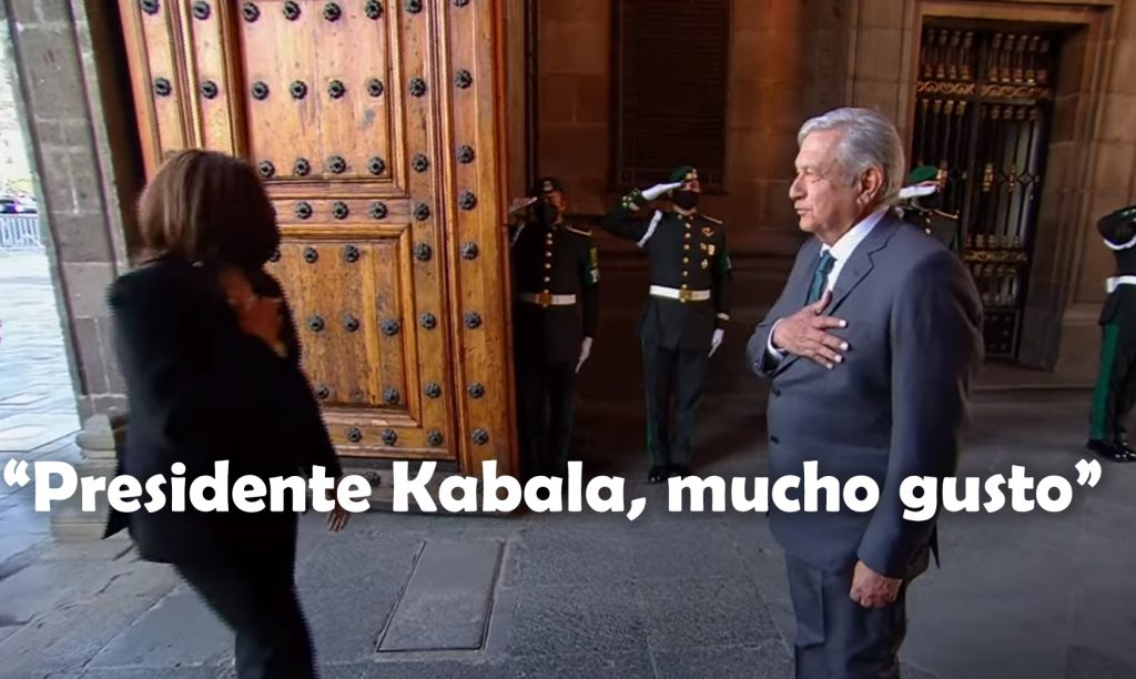 """Presidente Kabala, Mucho Gusto"""": AMLO Cambia Nombre Y Cargo A Kamala Harris"""
